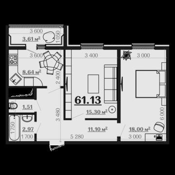 """Продам 2х-комнатную квартиру в новостройке ЖК """"Дубрава 3"""""""