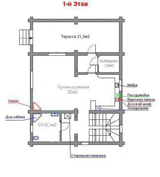 Уютный дом 170м2 для круглогодичного проживания рядом река Волга - Фото 2