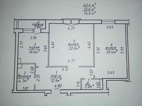 Новостройка, 2-х комнатная, оригинальной планировки. Витебск. В Витебск - Фото 2