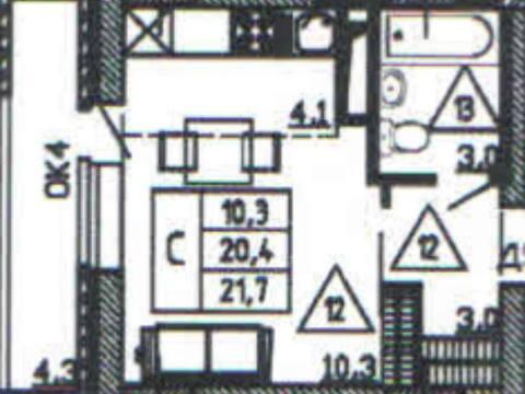 Продажа однокомнатной квартиры в новостройке на улице Кривошеина, ., Купить квартиру в Воронеже по недорогой цене, ID объекта - 320571970 - Фото 1