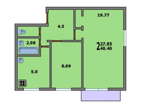 Комната 8м2 м.Бульвар Рокоссовского - Фото 2