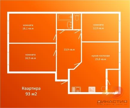 Трёхкомнатная квартира, стяжка-штукатурка, индивидуальное отопление. - Фото 1