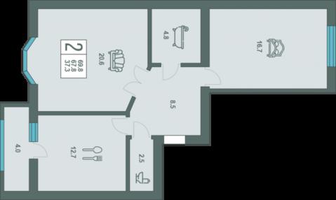2 комнатная квартира повышенной комфортности в доме элит класса. - Фото 2