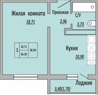 Объявление №66498514: Квартира 1 комн. Оренбург, улица Поляничко,
