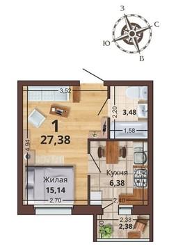 Продажа квартиры, Рязань, Канищево - Фото 1