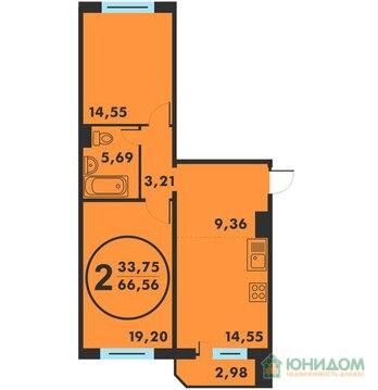 2 комнатная квартира-распашонка с кухней 14м2 ул. Созидателей - Фото 2