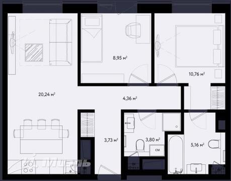 Продажа квартиры, м. Международная, Ул. Заречная - Фото 1
