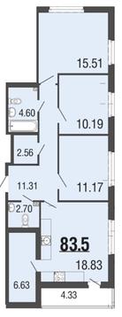 6 564 890 Руб., Продам 4к. квартиру. Вишневая ул. к.4-3, Купить квартиру Мистолово, Всеволожский район по недорогой цене, ID объекта - 319605419 - Фото 1
