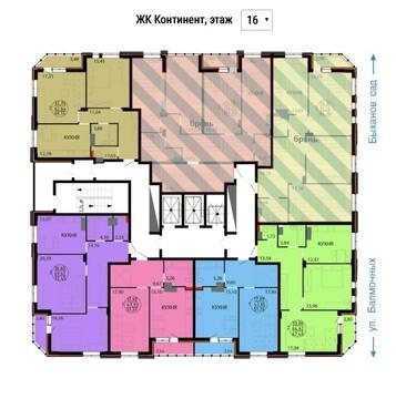 Улица Балмочных С.Ф. 14а; 3-комнатная квартира стоимостью 5350000р. . - Фото 1