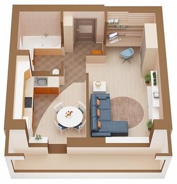 Новая 1 (одна) комнатная квартира в Ленинском районе г. Кемерово - Фото 1