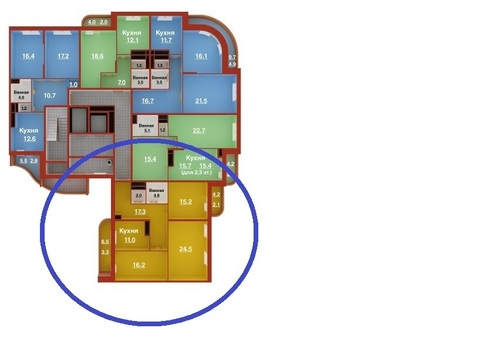 Продается трехкомнатная квартира 104 кв.м - Фото 2