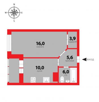 Продажа квартиры, Мурино, Всеволожский район, Шоссе в Лаврики ул. - Фото 1