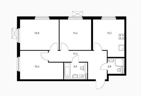 Объявление №50497537: Квартира 3 комн. Обнинск, ул. Курчатова, к2,