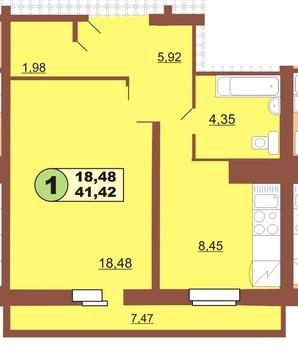 Продам 1 комнатную квартиру, Ленинского комсомола 37 - Фото 1