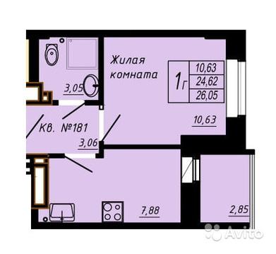Объявление №49702910: Квартира 1 комн. Ростов-на-Дону, Комарова б-р., 30,