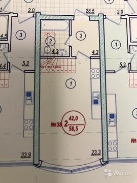2-к квартира, 58.5 м, 3/3 эт. - Фото 4