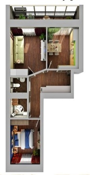 """2-к квартира 53.44 кв.м, ЖК """"Арт Сити"""" - Фото 1"""