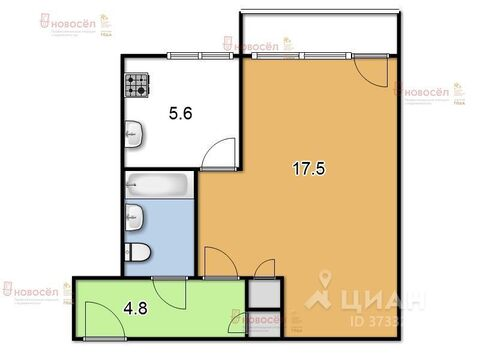 Продажа квартиры, Верхняя Пышма, Ул. Мамина-Сибиряка - Фото 1