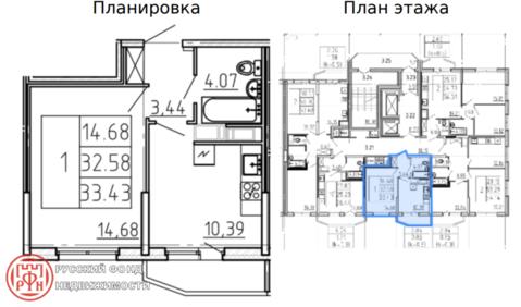 Продам 1к. квартиру. Комендантский пр. к.2 - Фото 4