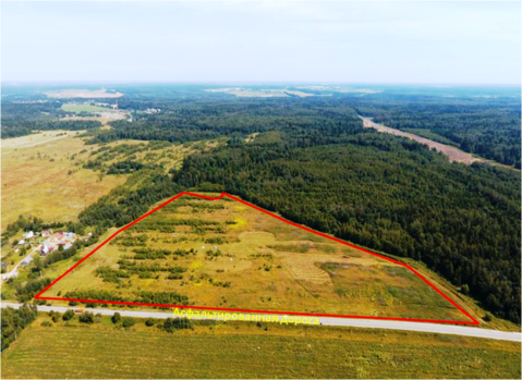 Земельный участок 80 сот в д. Рождествено, 35 км от МКАД - Фото 2