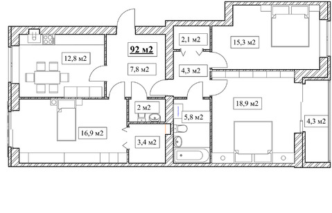 Продам 3-комнатную квартиру, 92м2, ЖК Прованс, фрунзенский р-н - Фото 5