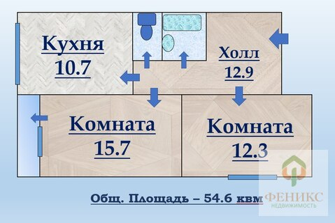 2-к квартира на Большевиков - Фото 3