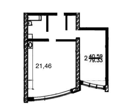 2 комнатная квартира 79,3 м2 В ЖК тверицкий берег - Фото 1
