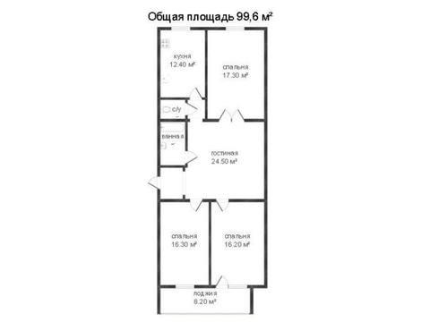 Продажа трехкомнатной квартиры на улице Поле Свободы, 129 в Калуге, Купить квартиру в Калуге по недорогой цене, ID объекта - 319812315 - Фото 1