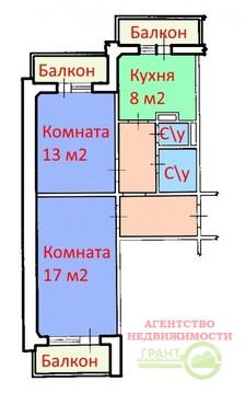 2-х комнатная квартира 52м2 с индивдуальным отоплением в мкр. . - Фото 2