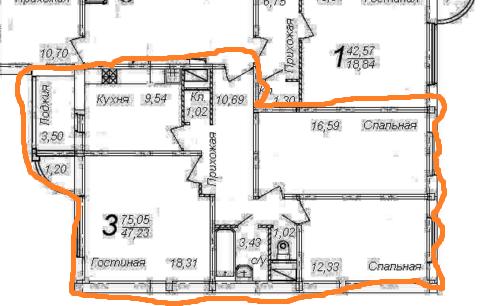 Продаю 3 комнатную квартиру Подольск, ул.Колхозная, 20 - Фото 2
