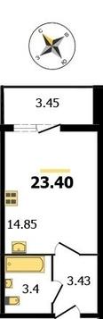 """Квартира-студия ЖК """"Молодёжный"""" 23.4 кв.м."""