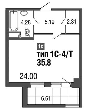 Продам студию. 2-ая Советская ул, д.4, Купить квартиру в Санкт-Петербурге по недорогой цене, ID объекта - 317900557 - Фото 1