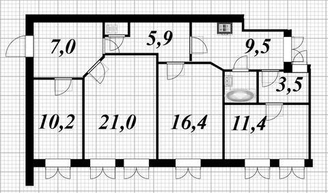 Продажа 4-х комнатной квартиры по сходной цене - Фото 5