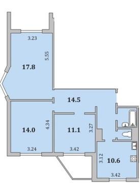 Квартира, Мурманск, Героев-североморцев, Купить квартиру в Мурманске по недорогой цене, ID объекта - 319864242 - Фото 1