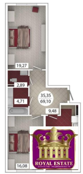 Продам 2 комнатную квартиру 69 м2 в ЖК «Castle Houses» - Фото 1