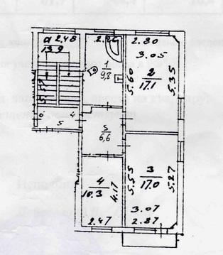 3 к.кв. г. Подольск, ул. Чайковского, д. 50 - Фото 1
