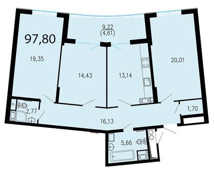 11 657 220 Руб., Продам 3к. квартиру. Жукова ул. к.2.2, Купить квартиру в Санкт-Петербурге по недорогой цене, ID объекта - 318417204 - Фото 1