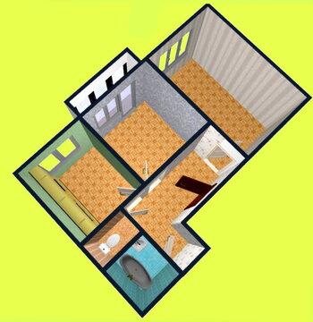 2х квартира ул.Тополиная 47, 17квартал - Фото 1