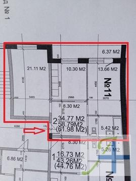 Квартира 65 кв.м. в новостройке - Фото 1