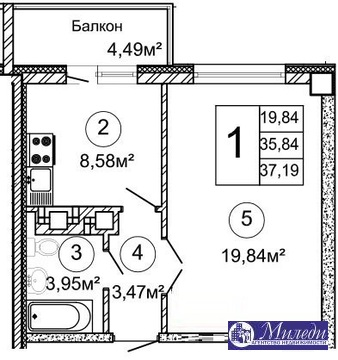 Объявление №61446680: Квартира 1 комн. Батайск, Крупской улица, 100,