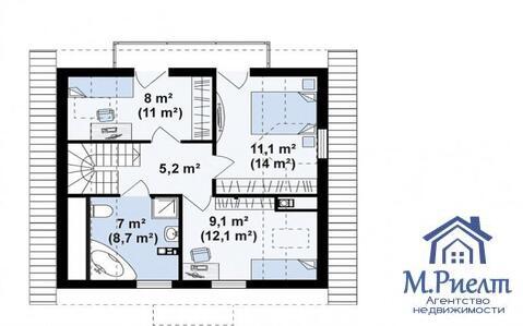 Дом 107 м2, 4 к, 2,29 млн, Западный-2, Тополиная - Фото 4