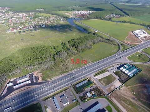 Земельный участок 5,8 га, пром, 1-ая линия, в 20 км от МКАД - Фото 1