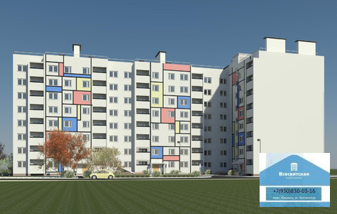 Продается 1-комнатная квартира в новом доме, мкр.Юрьевец - Фото 1