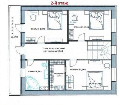 Дом в д.Крева 186м2 - Фото 3
