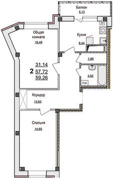 2-х комн.квартира в мкр.Улитка-2 - Фото 2