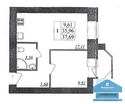 Продается 1-комнатная квартира в новом доме на ул. Верхняя Дуброва - Фото 2