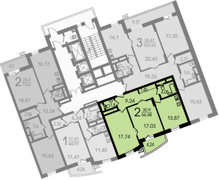 2-х комнатная квартира, Москва, улица Лобачевского, 118 корп. 2 - Фото 3