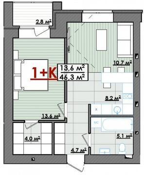 Срочно продам 1-комнатную в новом доме на Обороне - Фото 1