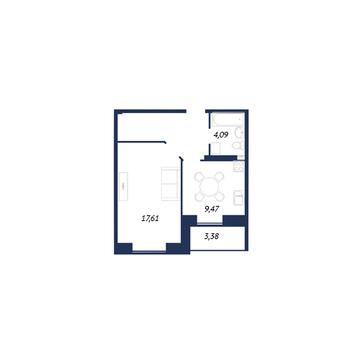 Улица Вавилова ; 1-комнатная квартира стоимостью 2100000 город .