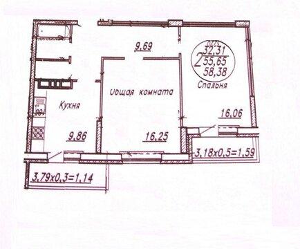 Сдам 2-х комнатную квартиру на длительный срок - Фото 3